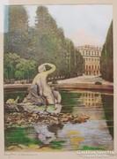 Csodás antik art deco selyemkép  H. Leisch