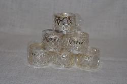 6 db ezüstözött, áttört mintás szalvéta gyűrű  ( DBZ 0084 )