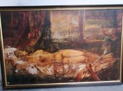 "A ""restaurátor"" hatalmas festmény"