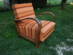 Jó állapotú megkímélt, kényelmes rugós  art deco fotel kivehető ülőlappal