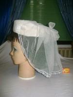 Retro menyasszonyi kalap fátyollal
