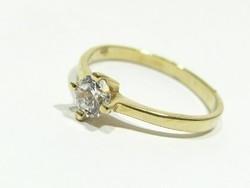 Női arany szoliter gyűrű ( Kecs-Au66141 )