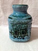Jelzett, kék-zöld mintás germany kerámia váza