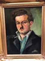 Férfi portréja, S.T. jelzéssel, olaj festmény