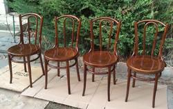 Meseszép Felújított  Antik J&J KOHN bécsi Thonet székek 4db .Leárazva!!!