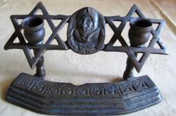 Antik bronz menora 1915bol