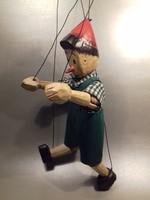 Fa Pinokkió Pinoccio marionett bábú figura