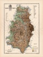 Krassó - Szörény megye térkép 1888 (3), vármegye, atlasz, eredeti, Kogutowicz Manó, 43x57 cm, Gönczy