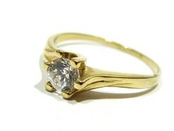 Női arany szoliter gyűrű ( Kecs-Au58359 )