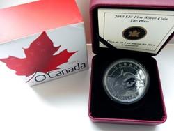 2013 Kanada 25$ Orca - 1 uncia tiszta ezüst érme proof  - tükröveretes