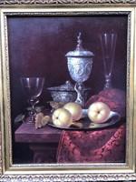 Csendélet, olaj festmény, Ender jelzéssel
