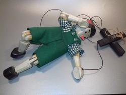 Fa faragott Pinokkió Pinoccio marionett bábú figura