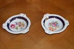 Martinroda porcelán Friedrich Eger&Co, PM porcelán aranyozott hamutál 2db