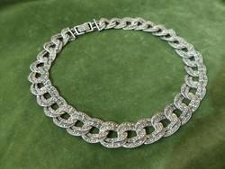 Markazitos ezüst kolié / nyakék / nyaklánc