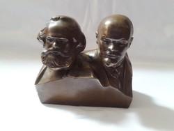 Marx és Lenin bronz