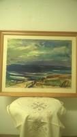 Alkony a tengernél (akvarell 76x38cm)