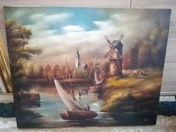 49,5x40 cm, ismereten festő - olajvászon festmény
