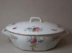 Mz  Altrohlau porcelán  leveses tál rózsás motívum