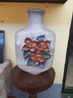 Nagy méretű, Német  szecessziós kerámia váza
