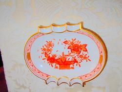 Herendi indiai kosár mintás porcelán tálka