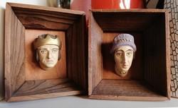 Királyi pár 3D -s gipsz páros falikép
