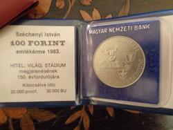 SZÉCHENYI 100 FORINT 1983 TARTÓJÁBAN