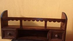 Kétfiókos tálas polc - tálaspolc - 75 x 33 x 14 cm.