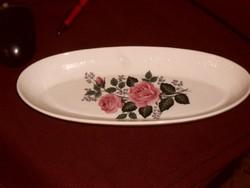 ROYAL Rózsás ovális tányér  7318