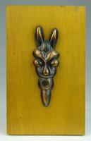 0T535 Kelta bronz fali dísz fa táblán 9.5 x 16 cm