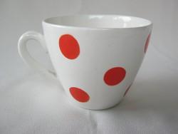 Gránit kerámia piros pöttyös kávés csésze bögre
