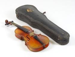0T393 Antik hegedű tokkal vonóval