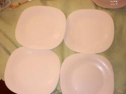 Fehér nagyon szép süteményes tányér 4 darab