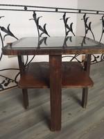 Üvegbetétes Art Deco asztal