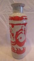 Zsűrizett retro iparművész kerámia váza 32 cm