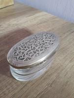Ezüst és üveg szelence Italia