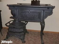 Antik Sparhelt Restaurált kályha Szép Míves tűzhely 1890 öntöttvas csikó tűzhely