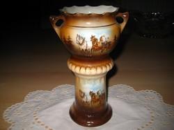 Porcelán  dísz kaspó  18,5x 12 cm  valoszinü  Altwien xxxxxxxxxxxxxxxxxxxx