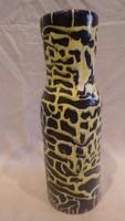 Zsűrizett retro iparművész kerámia váza 27 cm