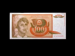 UNC - 100 DINÁR - (még) JUGOSZLÁVIA - 1990