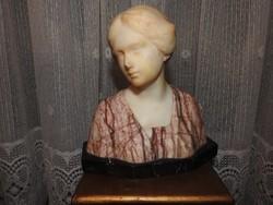 1800 -as évek végérből orosz grófnő márvány mellszobra - márvány brüszt