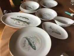 Halas porcelán készlet, HCC, antik