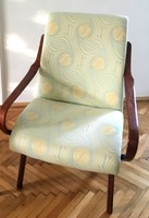 Felújított, egyedi stílusú design fotel