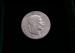 Nagyon szép ezüst 1 Korona, 1901.