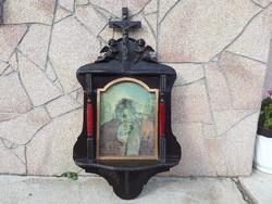Antik kép kisoltár St.JEROMOS