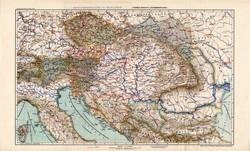 Magyarország és Ausztria politikai térkép 1913, Osztrák Magyar Monarchia, atlasz, közlekedési utak