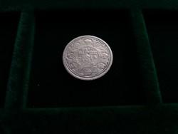 India, ezüst 1/2 rúpia 1917.