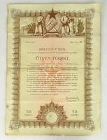 0T676 Békekölcsön kötvény 50 Ft 1950