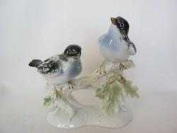 Lippelsdorfi porcelán madár pár