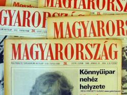 1980 január 6  /  MAGYARORSZÁG  /  SZÜLETÉSNAPRA RÉGI EREDETI ÚJSÁG Szs.:  4685