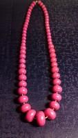 Mályva színű retro nyaklánc 035